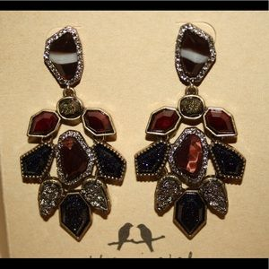 Rebel Red Tiger Eye Statement Earrings